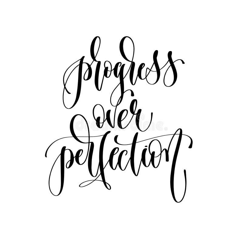 Postęp nad doskonałością - wręcza literowanie inskrypcji tekst ilustracji