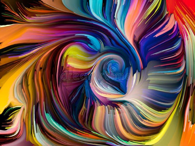 Postęp Zrastający się kolory ilustracji