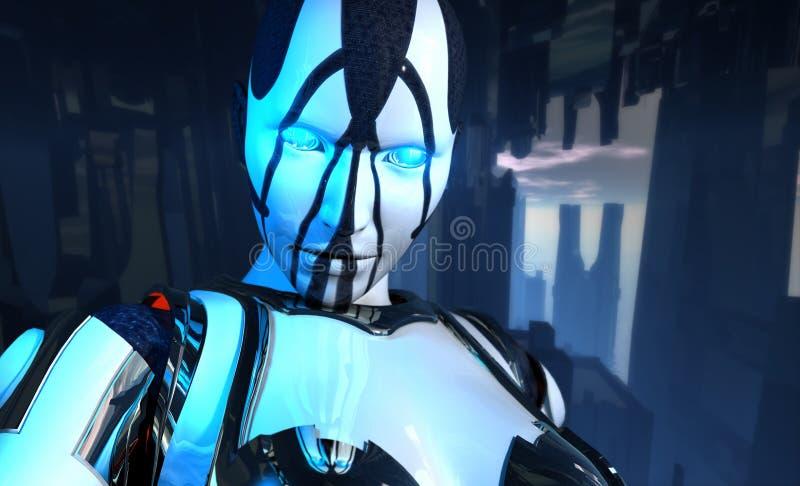 postępowego cyborga futurystyczny żołnierz ilustracji