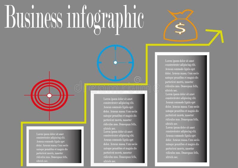 Postępu biznes infographic obrazy royalty free