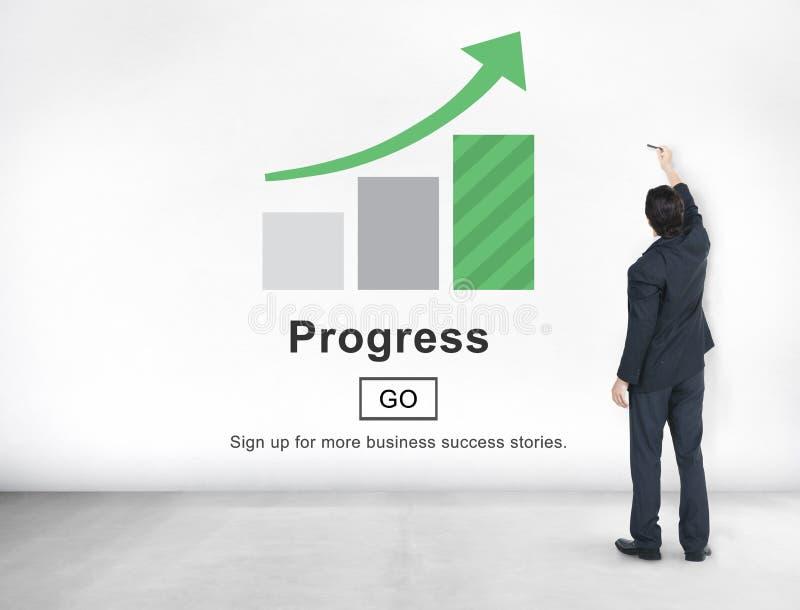 Postępu rozwoju Imrpovement popierania pojęcie zdjęcia stock