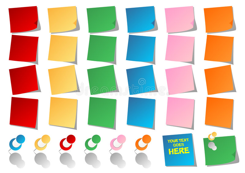 Post-it illustrazione di stock