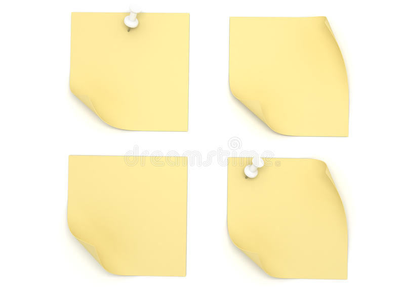 Download Post it stock illustration. Image of office, sheet, page - 20314714