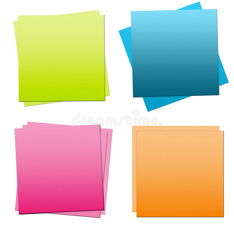 Post it. Multi-coloured notes are for bisiness royalty free illustration