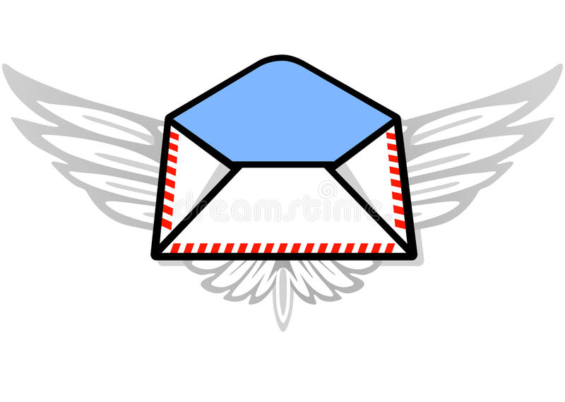Download Post by airmail stock vector. Image of letter, striped - 13744804