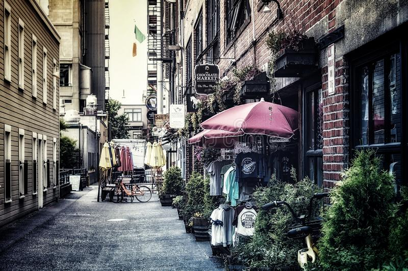 Post Alley in downtown Seattle Washington stock images