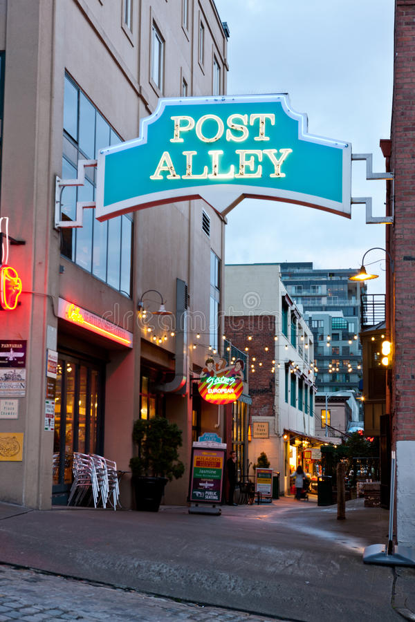 Download Post Alley In Seattle Washington Editorial Stock Image - Image: 28628144