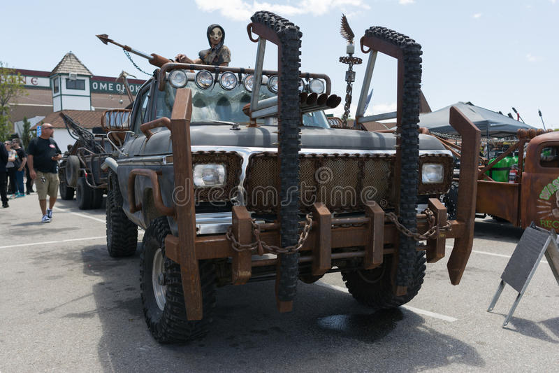 Post-apocalyptic survival Truck royalty free stock images