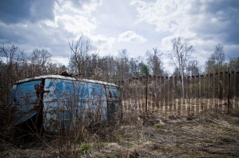 Post-apocalyptisch landschap stock afbeelding