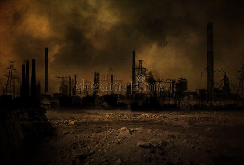 Post-apocalyptisch scenario V2 royalty-vrije illustratie