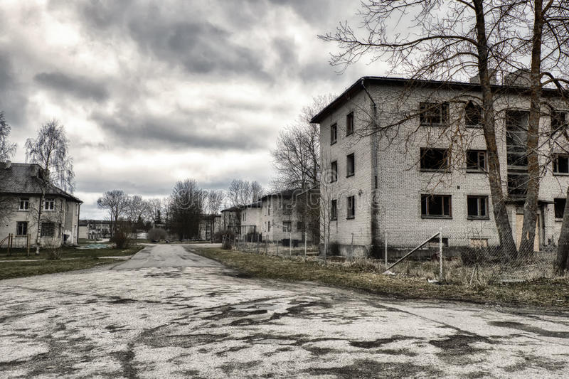 Post-apocalyptische stad stock fotografie