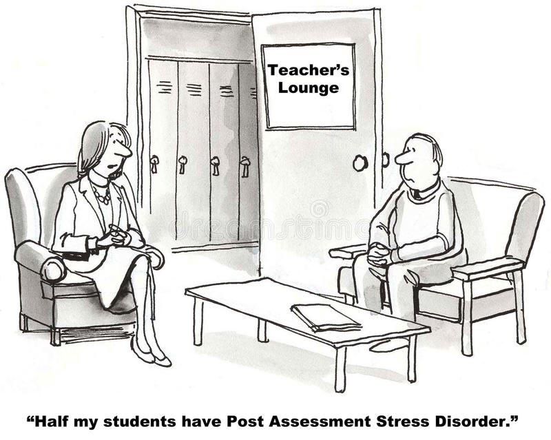 Post Assessment Stress Disorder royalty free illustration