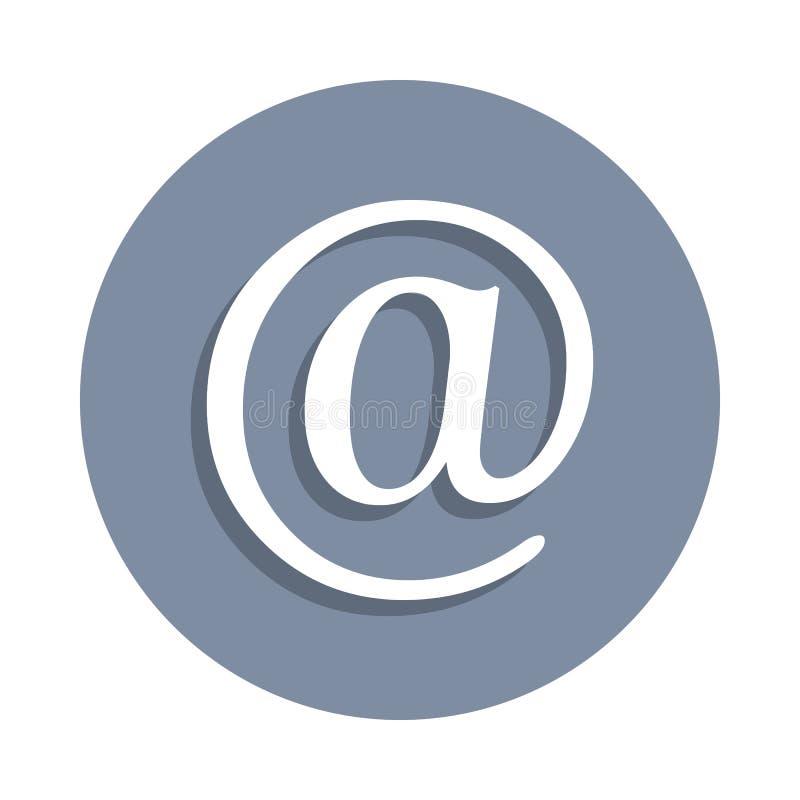 post bij pictogram in kentekenstijl Één van het pictogram van de Webinzameling kan voor UI, UX worden gebruikt stock illustratie