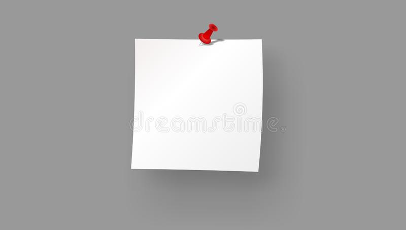 Post blank sticky paper sheet vector. Notepad, attached. Post blank sticky note paper sheet vector Reminder stick note. uses for advertising, book page royalty free illustration