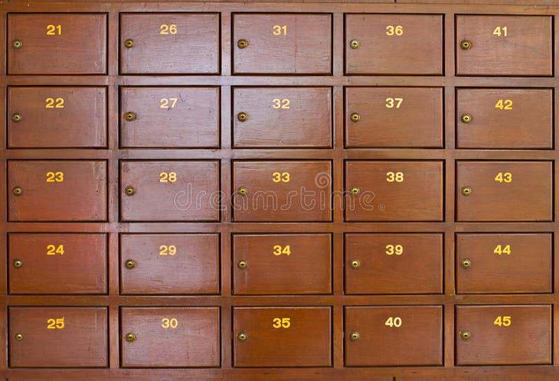 Post Box. At Post Oiifce royalty free stock photo