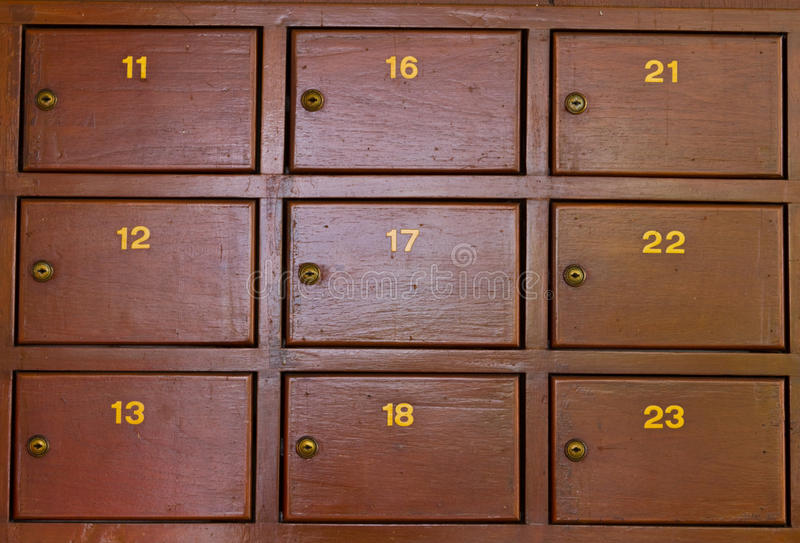 Post Box. At Post Office royalty free stock photos