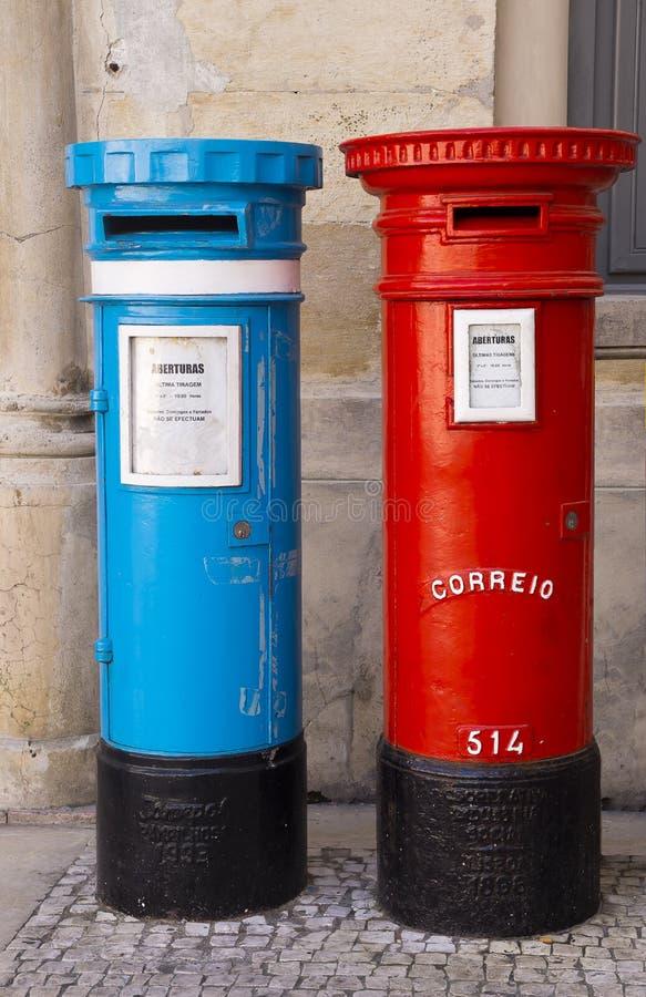 Post box Coimbra Portugal stock photo