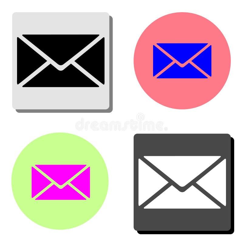 Post, brief Vlak vectorpictogram stock illustratie