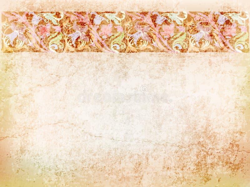 Post card, invitation, blank, floral frame, tulips vector illustration