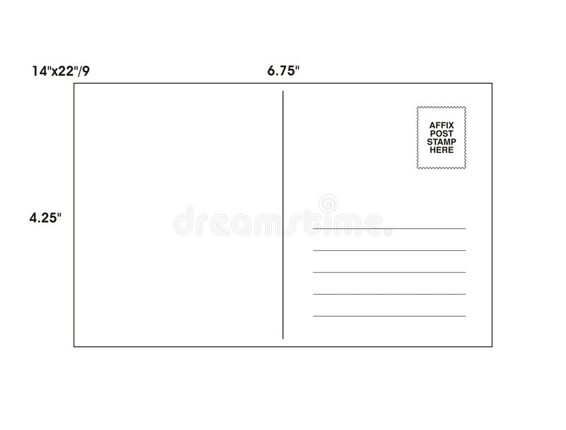 Download Post Card Template - Vector Stock Illustration - Illustration of line, paper: 7061912