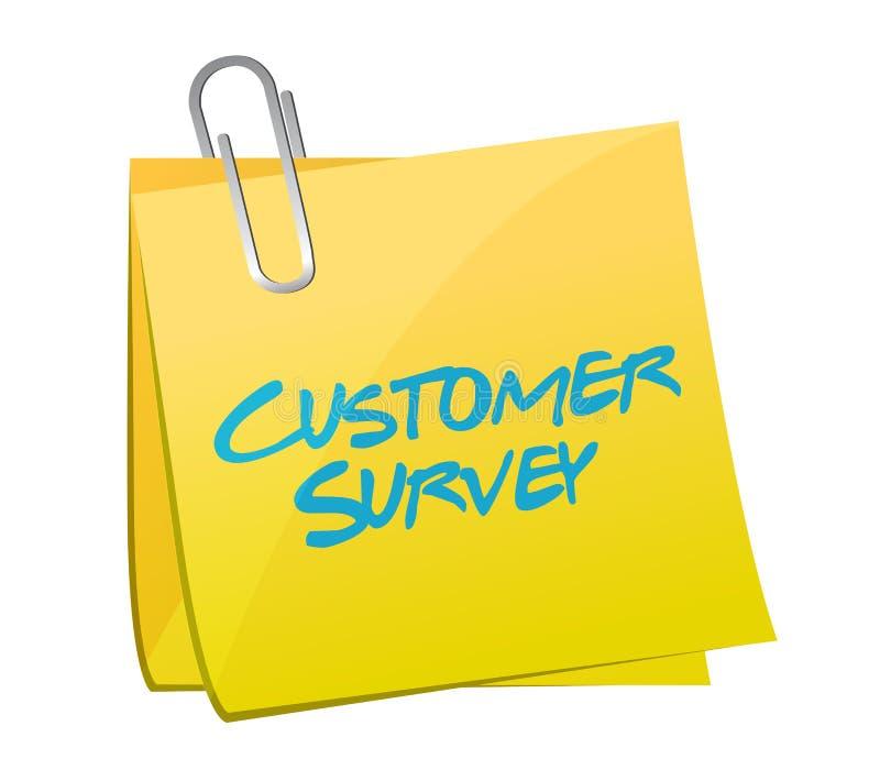 Post de illustratieontwerp van het klantenonderzoek stock illustratie