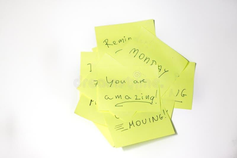 Post-it de motivación asombroso imagen de archivo