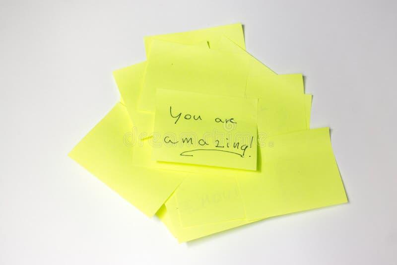 Post-it de motivation photos stock