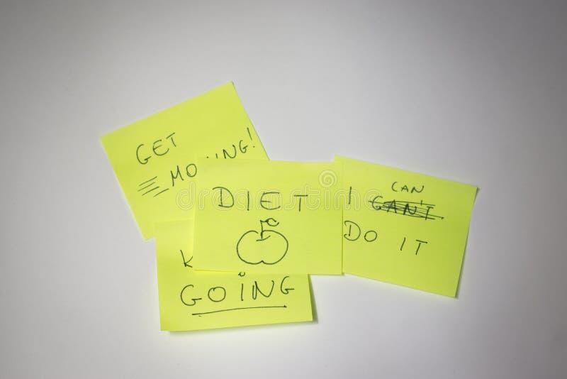 Post-it de motivation photos libres de droits