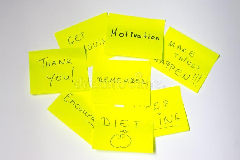 Post-it de motivation photo libre de droits