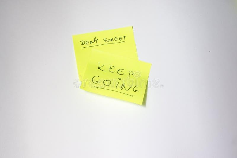 Post-it de motivation photographie stock libre de droits