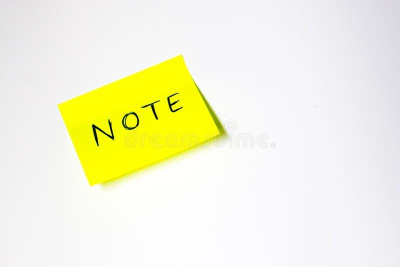 Post-it de motivation photographie stock