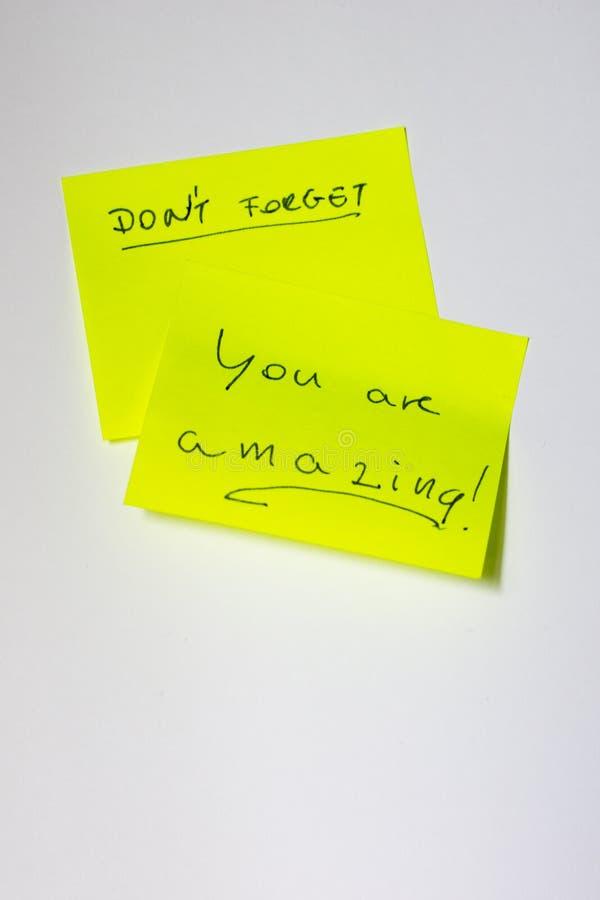 Post-it de motivation image stock