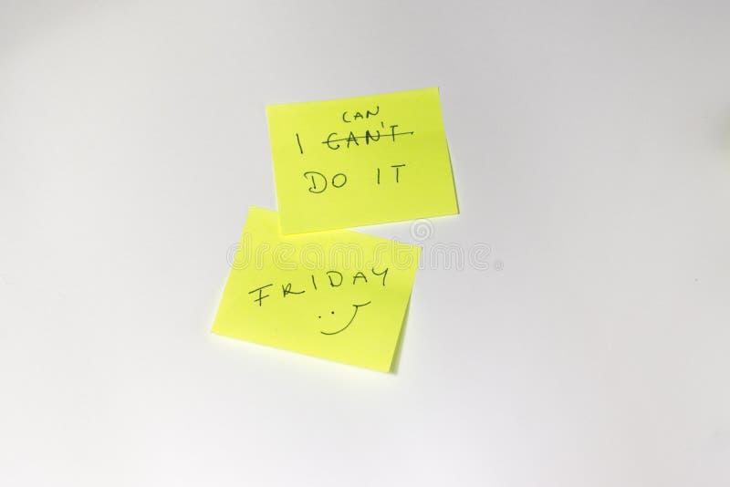Post-it de motivation photo stock
