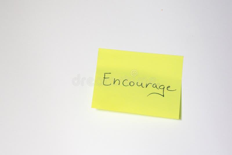 Post-it de motivation image libre de droits
