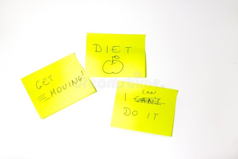 Post-it de motivation images libres de droits