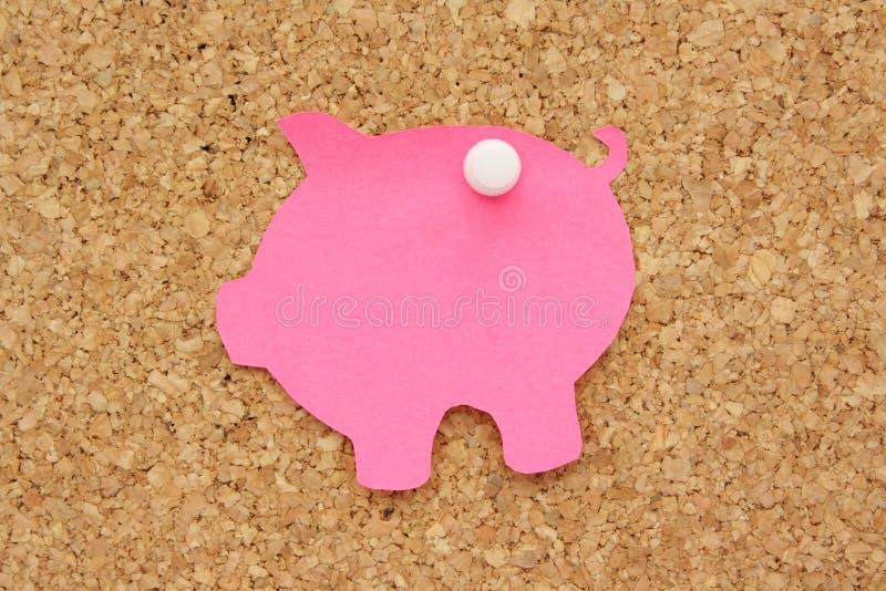 Post-it della Banca Piggy immagini stock libere da diritti
