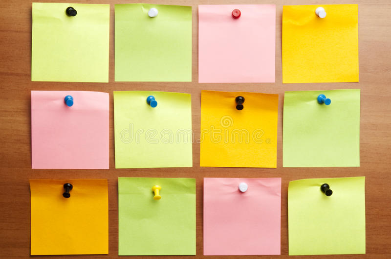 Post-it douze vide photos stock