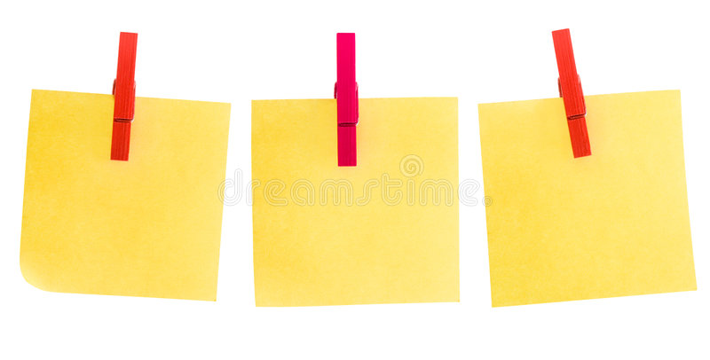 Post-it drie stock afbeelding