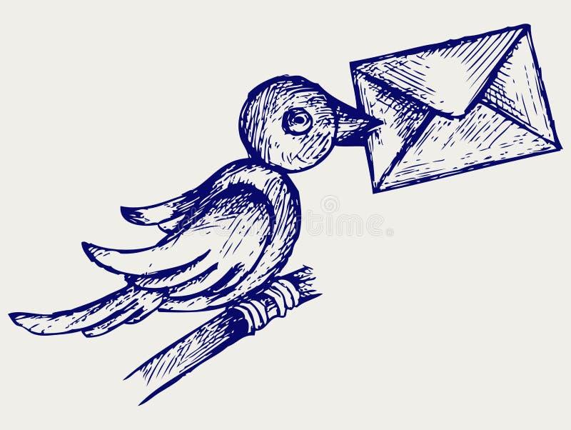 Post duif vector illustratie