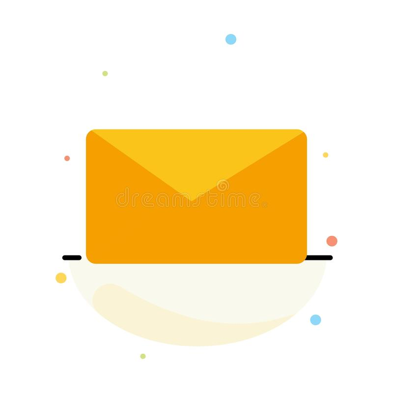 Post, E-mail, Gebruiker, het Pictogrammalplaatje van de Interface Abstract Vlak Kleur stock illustratie