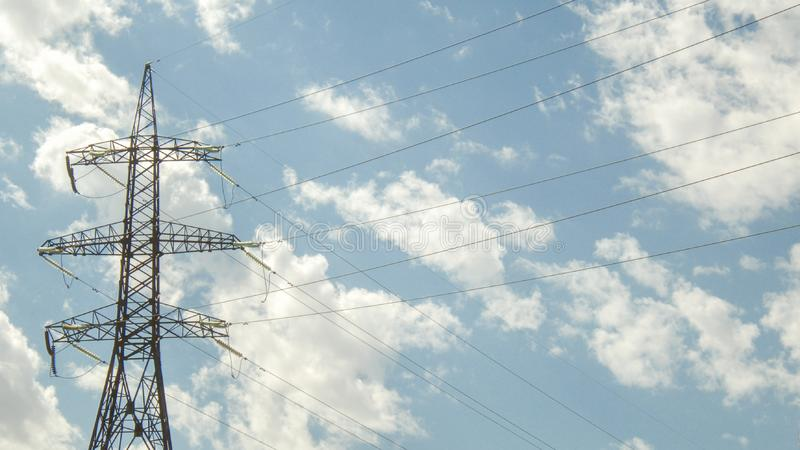 Post electric, insulated royalty free stock photography