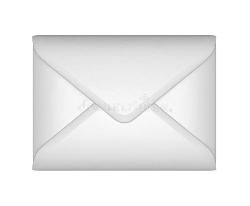 Post en post - Witte gesloten envelop royalty-vrije illustratie