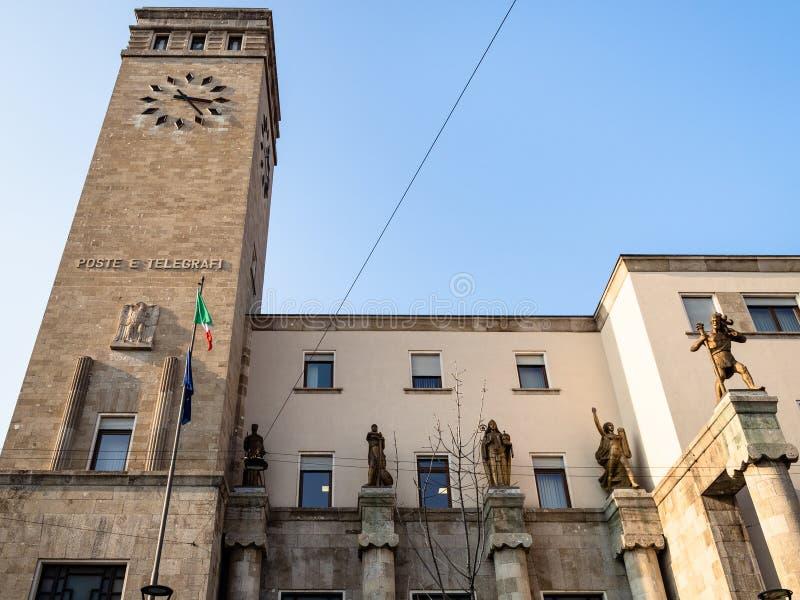 Post en Telegraafpaleis in Bergamo royalty-vrije stock foto's