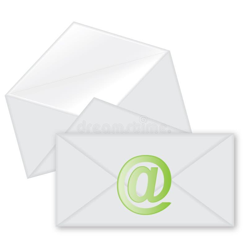 Post envelope (e-mail envelope). On a white background stock illustration