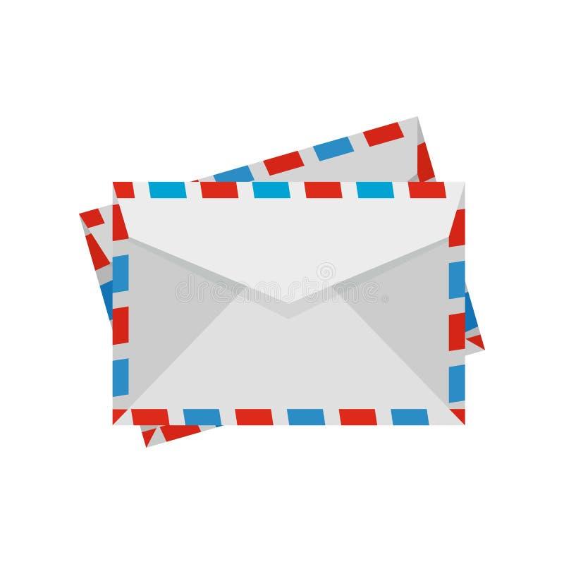 Post envelope icon, flat style. Post envelope icon. Flat illustration of post envelope vector icon for web design stock illustration