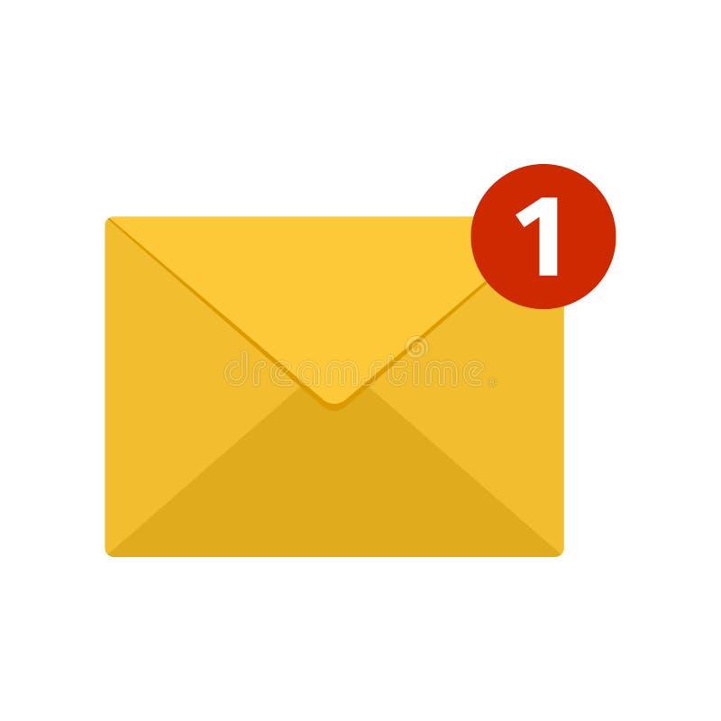 post för diagramsymbolsillustration Inkommande nytt emailmeddelande vektor royaltyfri illustrationer