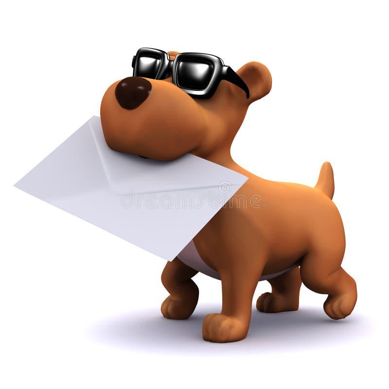 post för hund för valp 3d bärande vektor illustrationer