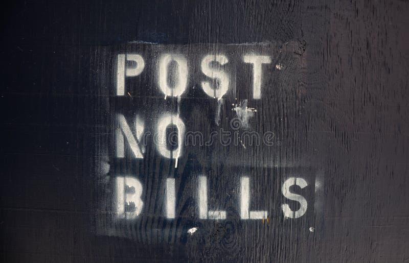 Post Geen Rekeningen royalty-vrije stock afbeeldingen
