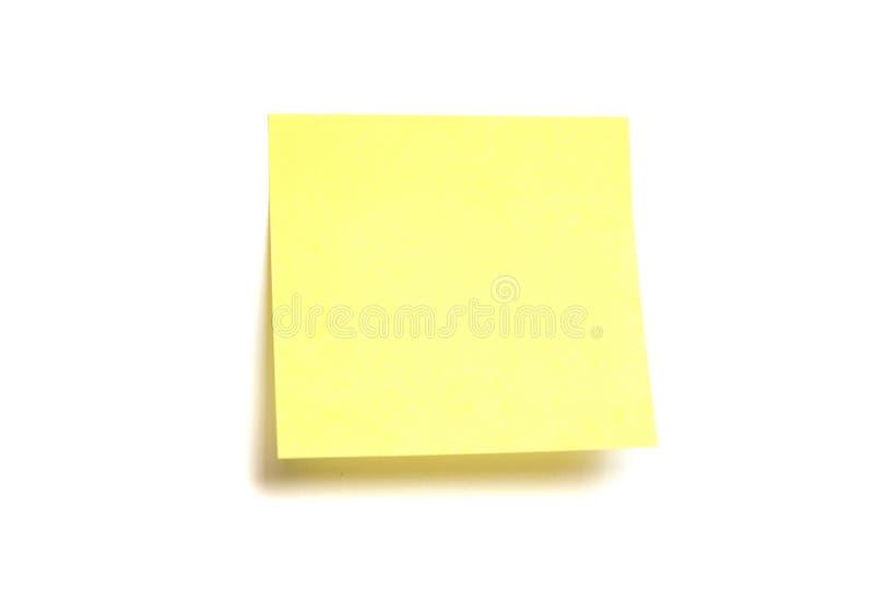 Post-it giallo isolato immagine stock