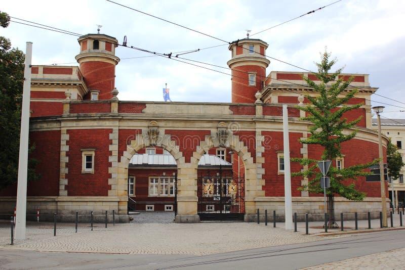 Post in Goerlitz stock photos